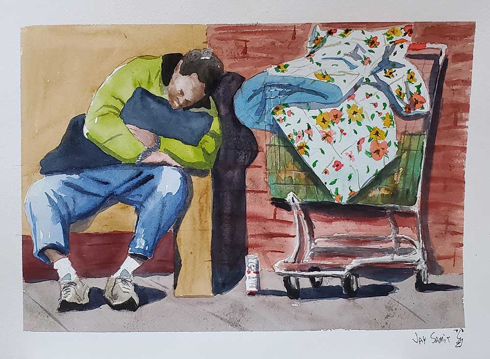 Homeless-with-Floral-Blanket