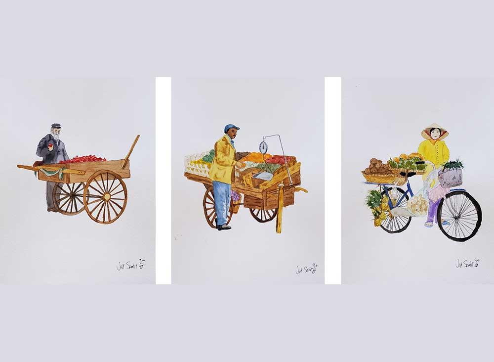 Pushcart-Triptych
