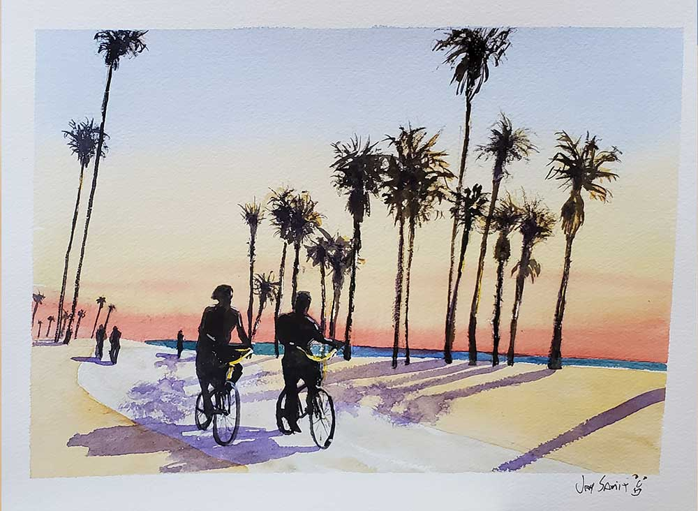 Two-bicycles-Venice-Beach